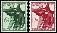 EBS Germany 1944 Shooting Competition - Landesschießen - Michel 897-898 MNH**