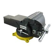 Olympia Bench Vise Single Handed Operation 6 In Wide Jaw Faces Polished Anvil