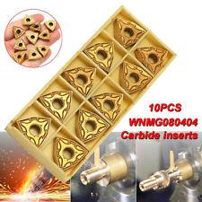 10x WNMG0804 WNMG080404 Carbide Insert For WWLNR WWLNL Lathe Turning Tool Holder