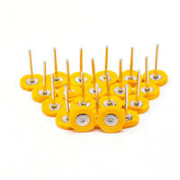 "10Pcs 1""Yellow Polishing Cotton Cloth Wheel Brush Rotary Buffing Tool 3mm Shank"