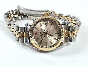 Rolex Ladies Oyster Perpetual Date Working Watch Model 6917