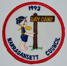 Narragansett Council (RI) 1993 Cub Scout Day Camp Pocket Patch  BSA