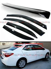 2014-17 Toyota Corolla Mugen 3D Wavy Style Window Visor + Rear Roof Visor Combo
