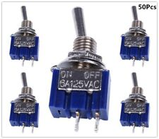 50pcs 2 Pin Spst On Off 2 Position 6a 125vac Mini Toggle Switches Mts 101