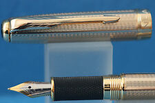 New Jinhao No. 601 Gold Plate Medium Fountain Pen with Gold Trim, UK Seller