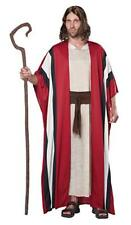 Biblical Shepherd Costume Adult 3Pc Tan/Rd/Br Gown Stripe Robe & Sash Lg/Xl