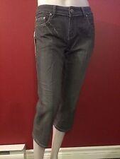 VERTIGO JEANS Women's Grey Embellished Cropped Jeans - Size 27 - NWT $160