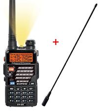 AIRSOFT 2 WAY DUAL BAND RADIO BAOFENG UV-5R HEADSET + LONG WHIP AERIAL