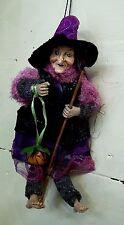 sorciere,Halloween ,26 cm,objet de légende, poupée, witch, mauve  G28