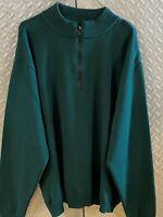 Mens Filson Garment 1/4 Zip Virgin Wool Sweater / Style 719 XL XLarge  USA