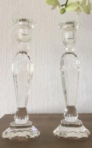 Kerzenständer Kerzenleuchter Glas Kerzenhalter Kristallklar 26,5