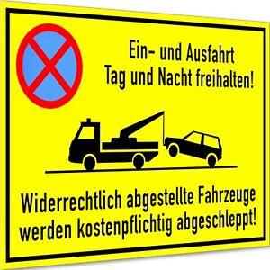 Einfahrt und Ausfahrt freihalten Schild Parken verboten Parkverbot Hinweisschild