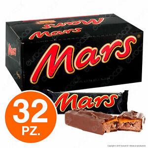 Mars Snack con Latte e Caramello Ricoperto di Cioccolata - Box con 32 Barrette