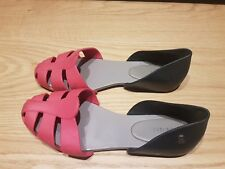 Black And Pink Rubber Melissa Shoes Sandals Eu37 Uk4