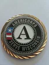 AMERICORPS SERVE WISCONSIN Challenge Coin