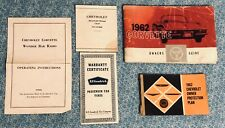 1962 CORVETTE C1 OWNERS MANUAL ORIGINAL CHEVROLET FULL OEM SET RARE! 327 V8