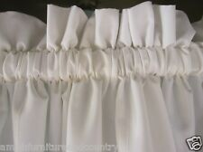 Farmhouse White 100% Cotton Muslin Valance Curtains