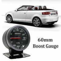 60mm Turbo Boost Pressure Pointer Gauge Meter Smoked Dials 30Psi Pob LED