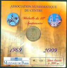 MEDAILLE MONNAIE DE PARIS  ENCARTS ORLEANS 2009 TIRAGE 200 EXEMPLAIRES