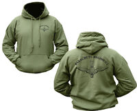 MILITARY HOODIE PARACHUTE REGIMENT BRITISH ARMY GREEN HOODY DOUBLE SIDED PARA