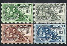Colombia 1957 UPU Congress/Statue/Post/Mail/People/Communications 4v set n37180