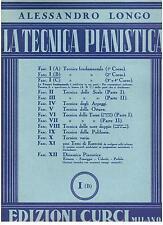 Alessandro Longo: La Tecnica Pianistica I (b) - Curci