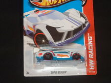 HW HOT WHEELS 2013 HW RACING #107/250 SUPER BLITZEN HOTWHEELS WHITE VHTF RARE