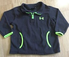 Under Armour Pullover Fleece Baby Toddler Size 12 Months Gray And Lime Green