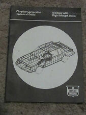 Chrysler Corporation Technical Guide WORKING with HIGH-STRENGTH STEEL ct17
