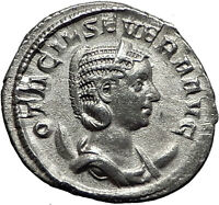 Otacilia Severa 247AD Rome Silver Authentic Ancient Roman Coin Concordia i59007