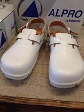 Birkenstock Alpro C 311 Work 41 US 8 8.5 Men's Shoes 599071 White Leather Clog