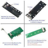 sata adapter pcie m.2 U.2 card for 2010-2017 macbook air pro teardown SSD to PC