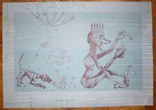 Joan Ponc lithographie 1976 Signée art abstrait Museo Reina Sofía de Madrid