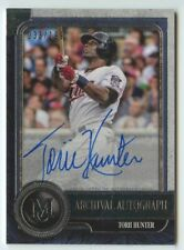 Torii Hunter 2019 Topps Museum collection archival twins auto autograph /199