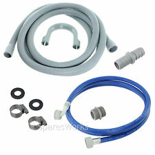 Fill Water Pipe & Outlet Drain Hose For LG Washing Machine 2.5m Kit