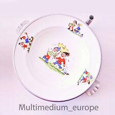 30er Jahre Warmhalte Kinder Teller Porzellan Zwerge Alu Boden 30s