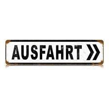 "Vintage Style Retro Ausfahrt German Authobahn Exit Steel Metal Sign 20"" x 5"""