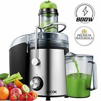 AICOK Juicer - 75MM Wide Mouth Juicer Machines Whole Fruit and Vegetable