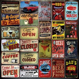 Retro Tin Sign Wall Decor Metal Plaque Pub Bar Poster Plate Tavern Club Shop
