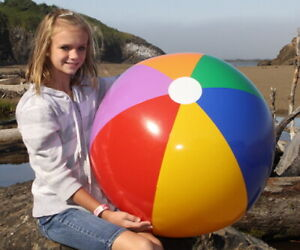 """36"""" Inflatable 7 COLOR Beach Ball, Glossy Vinyl, Fun Pool Toy & Party Decoration"""