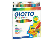 24 x Giotto Stilnovo Colouring Pencils - Hexagonal - Ideal for Adult Colouring