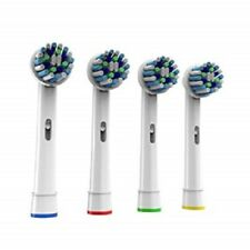4 New Oral Cross Action B Compatible Electric Toothbrush Replacement Brush Heads