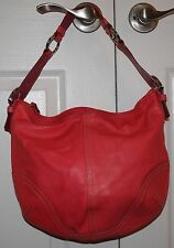 Coach Red Leather Soho Hobo Shoulder Handbag