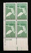 US Stamps Plate Blocks #952 ~ 1947 EVERGLADES NATIONAL PARK 3c Plate Block MNH