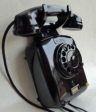 Antico Telefono siemens da muro, anni 40/50' in bachelite lucida.
