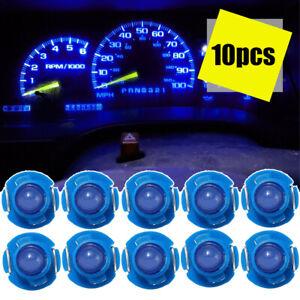 10x Blue T4.7 Wedge LED Bulbs Car Instrument Panel Light Dash Lamp Accessories