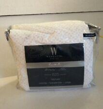 WAMSUTTA 625 Thread Count SHEET SET QUEEN PRINT  WHITE