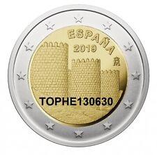 """ESPAGNE COMMÉMORATIVE 2019 """" REMPART D'AVILA """" 2 EURO - NEUVE UNC -"""