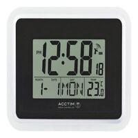 Acctim Silver/Black Avanti Radio Controlled Digital Clock 74467 [ANG74467]