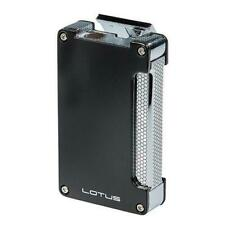 Lotus Duet 3-Eleven Single Torch Butane Lighter w/ Cigar Punch - Black - New